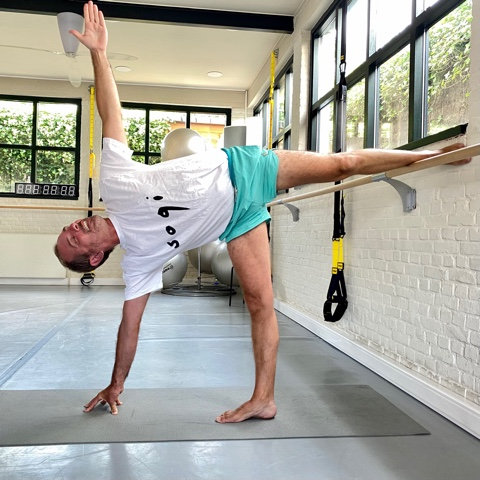 A Bruxelles, Florian, professeur de Yoga Lyengar